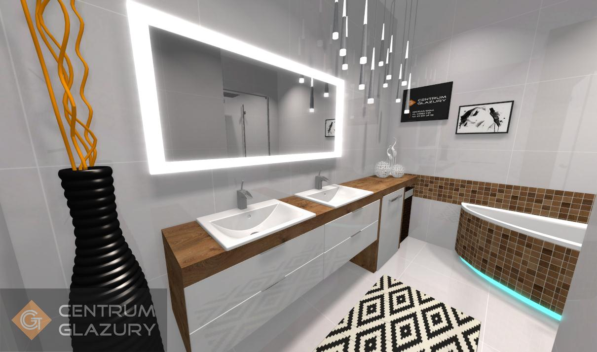 Projekt łazienki Centrum Glazury