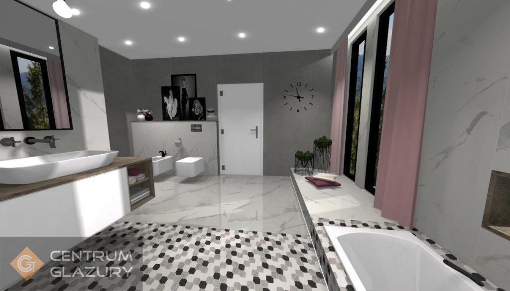 Projekt łazienki Centrum Glazury Wizualizacja 3d Gratis