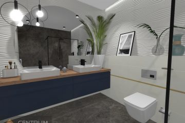Projekt łazienki Margarita Paradyż Mulina Tubądzin