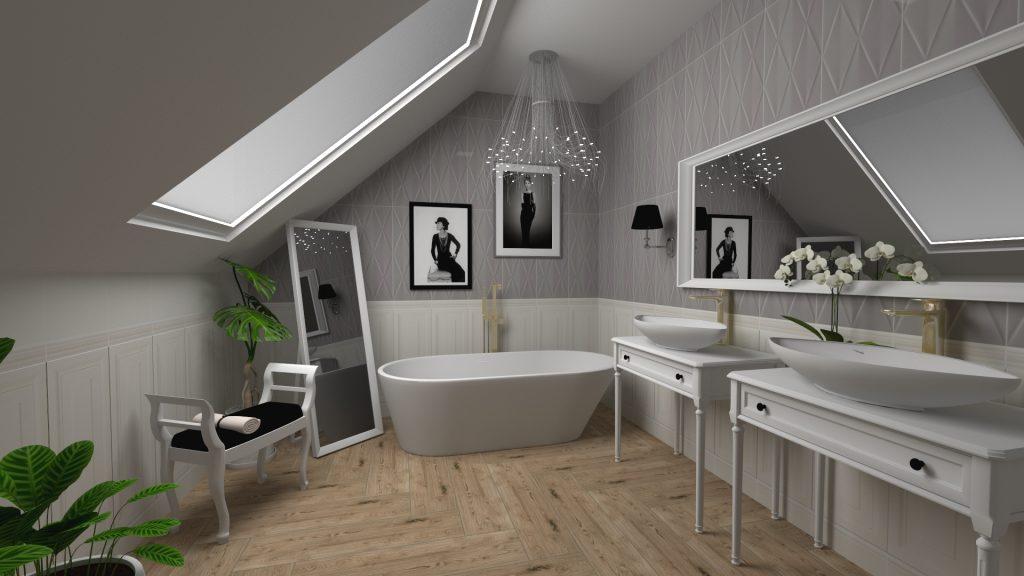 Tubądzin Abisso łazienka glamour