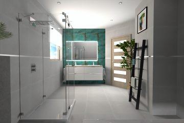 projekt łazienki płytki Centrum Glazury Zduńska Wola