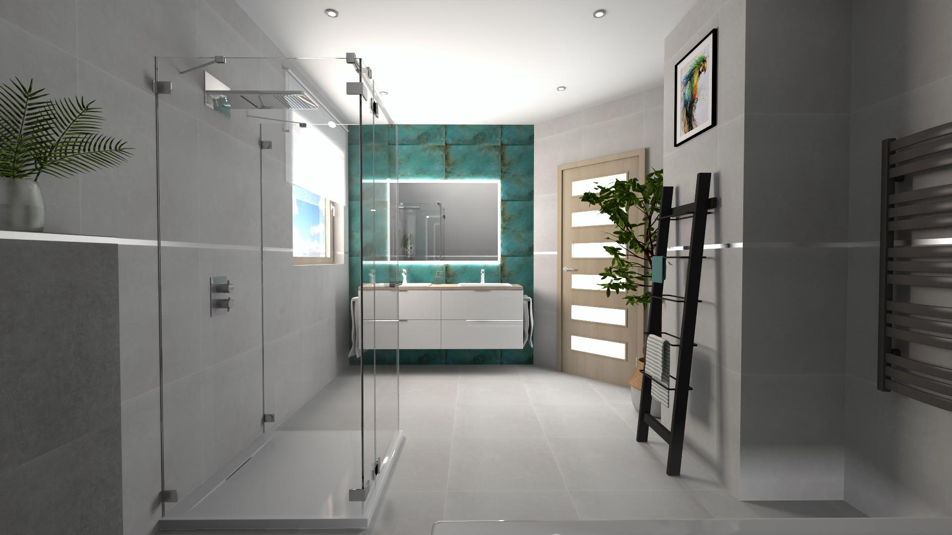 projekt łazienki Centrum Glazury Zduńska Wola