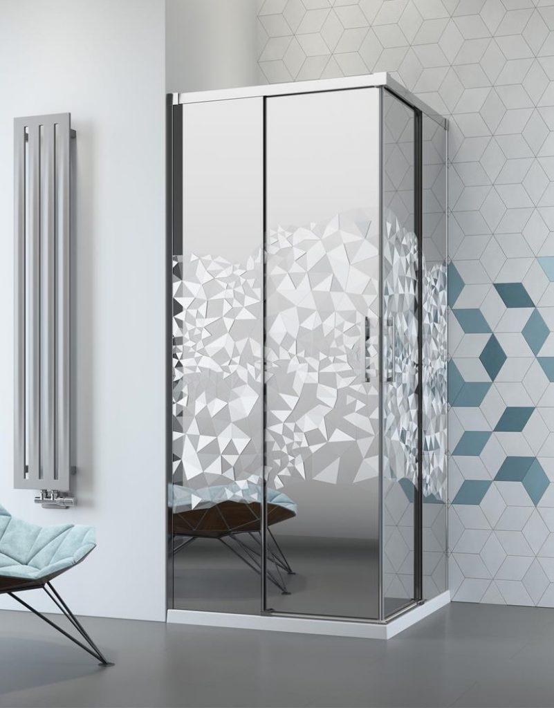 Kabina prysznicowa Radaway euphoria kddz grawerem crystal mirror