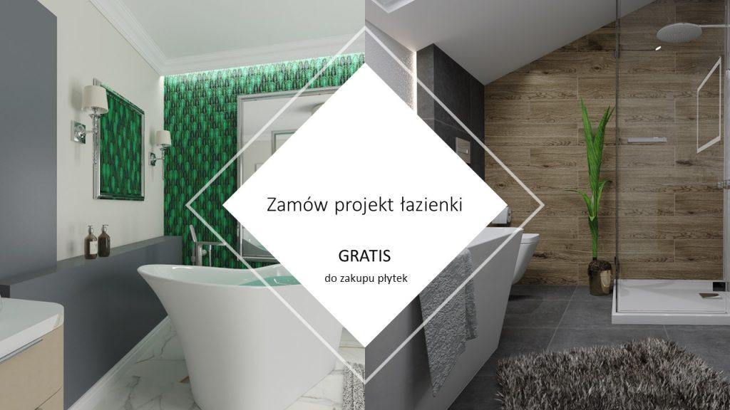 Projekt łazienki gratis do zakupu płytek Łask, Zduńska Wola i Sieradz