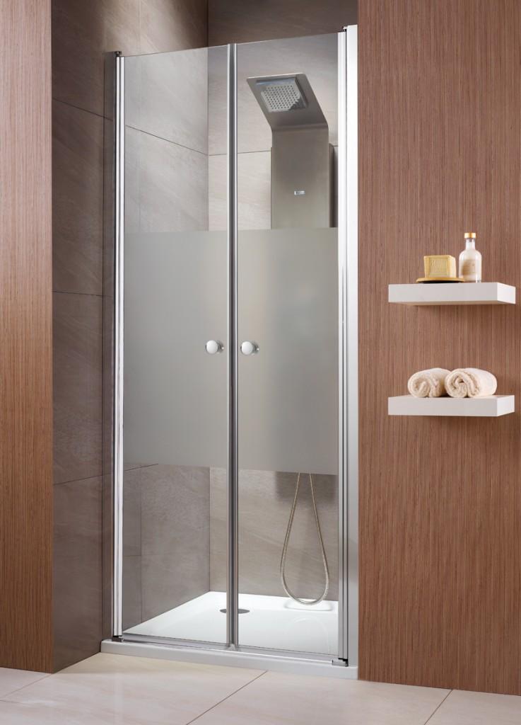 Drzwi wnękowe EOS DWD Radaway 90cm ze szkłem intima otwierane wahadłowo.