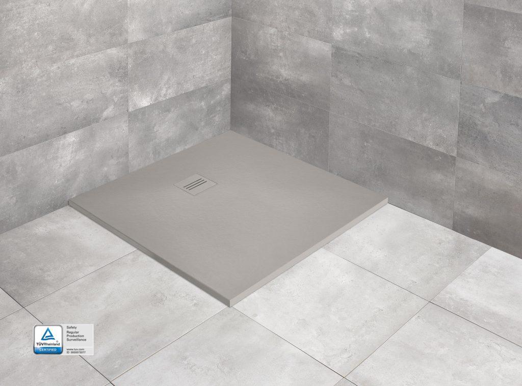 Radaway brodzik marmurowy Kyntos C 90x90 cemento